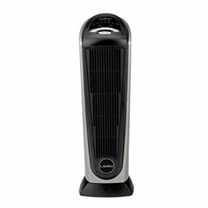 Lasko 751320 Ceramic Tower Heater With Adjustable Thermostat - allows you to adjust the heater's 1500 watt ceramic heating element. ... Remote Control & Built-in Timer - allows you to adjust the heater's temperature, timer, oscillation and more from a distance.