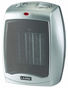 This space heater has better control system including high heat, low heat, and fan only make this electric space heater ideal for warming up an area in your home. Combined with an adjustable thermostat this personal space heater is great for small areas.