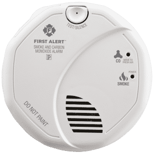 If there's ever a fire, you'll be able to hear the 85-decibel siren no matter where you are or if you're sleeping, and if it's a false alarm, you can silence the unit by pressing the button on the front.