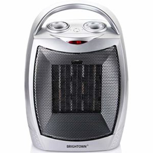 We made a comparison of Brightown Oscillating 750W/1500W ETL Listed Quiet Ceramic Space Heater with Adjustable Thermostat, Portable Electric Heater Fan.