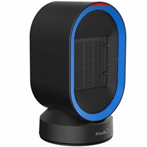 The Kloudic oscillating Ceramic Space Heater. With PTC heating material, 600watts energy-saving setting, this ceramic heater provides warm air quickly surround you in 2 seconds. One touch on the swing button to delivery wide-angle heat with auto oscillation.