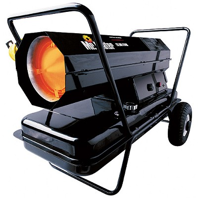 The Mr. Heater F270320 MH125KTR is a fan forced kerosene heater that is capable of heating particularly large areas of up to 3125 square feet.