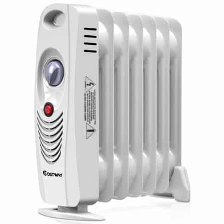 COSTWAY Oil Filled Radiator Heater Mini Space Heater Portable Electric Heater reviews