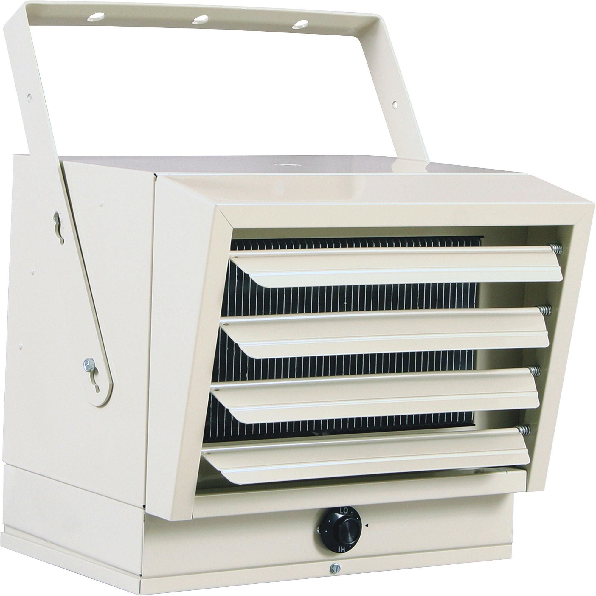 Fahrenheat Ceiling Mount Industrial Heater - Equipped with a ceiling mounting bracket for multiple flow position options