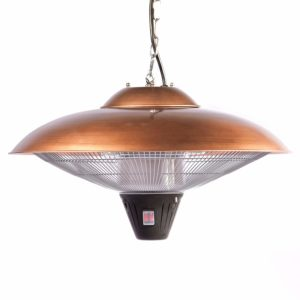 Versatile and Effective: Fire Sense 60660 Hanging Halogen Patio Heater - Versatile pole poles adjusts from 5'5″ to 6'6″ and fits through a standard 2″ patio ... Fire Sense Hanging Copper Finish Halogen Patio Heater - 60660