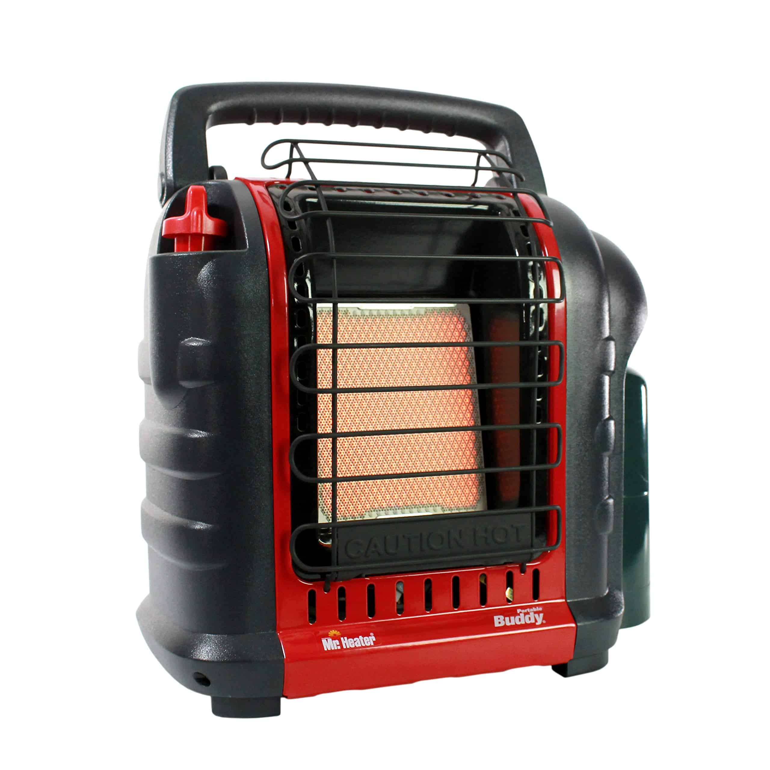 This is a 4,000 to 9,000 Btu radiant heater that you can use to warm areas as big as 225 square feet. The Mr. Heater F3200 MH9BX Portable Buddy is equipped with an oxygen sensor that automatically shuts the device off if the levels get too low.