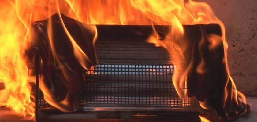 Steps to prevent space heater fire