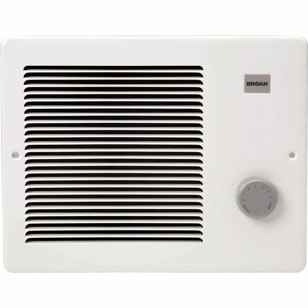 The Broan 174 750/1500 Watt Wall Heater is our best electric wall heater in which the grille measures 12 inches while housing measures 10 1/4 inches.