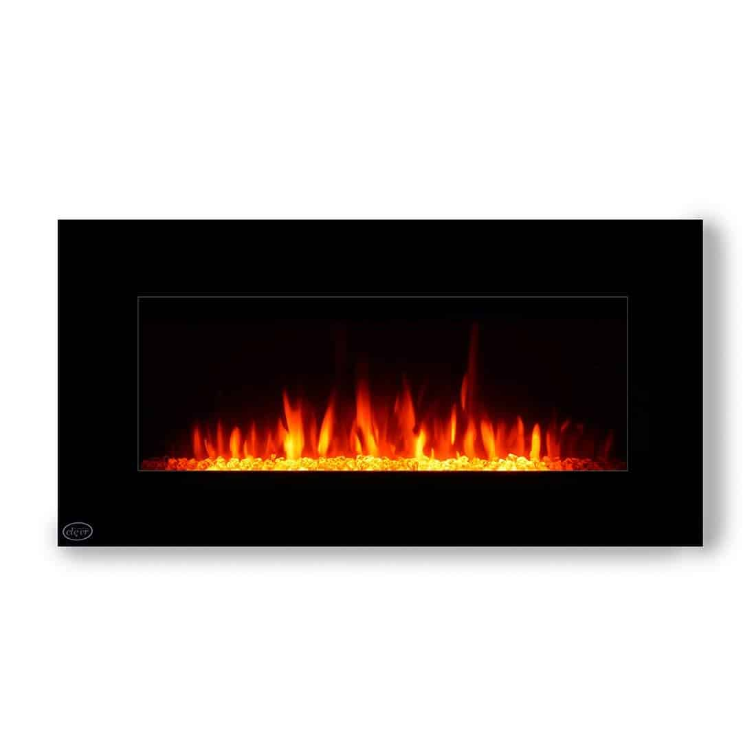 The Clever 32  Wall Mounted Modern Heater 1500W Vertical Wall Mount Electric Fireplace Heater 3D Flame Technology