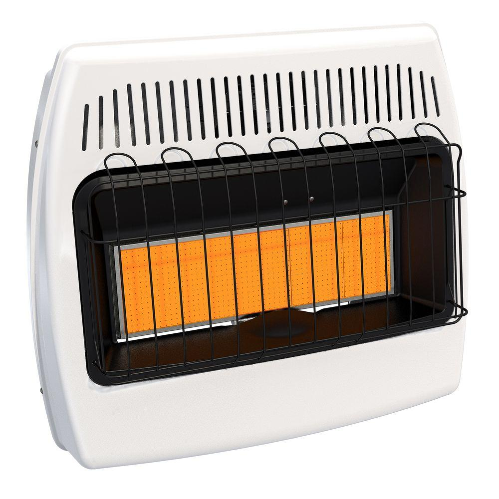 Dyna-Glo IR30PMDG-1 30,000 BTU Liquid Propane Infrared Vent Free Garage Wall Heater - You'll love the 30000 BTU Wall Mounted Propane Manual Wall Insert Heater