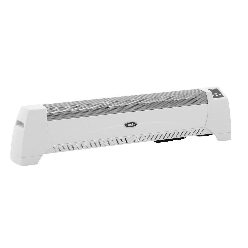 Silent Room Baseboard Heater – White. Model 5622. Lasko's silent room heaters use natural convection to circulate warm air silently throughout your room.