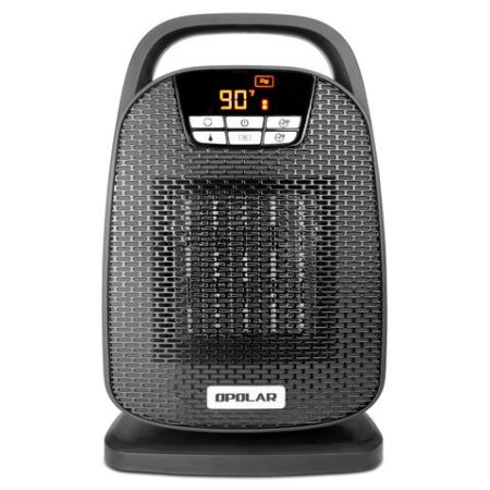 We examined opolar 1500w digital ceramic quiet space heater with oscillating feature, fast heating for small and middle rooms, office floor, desk.