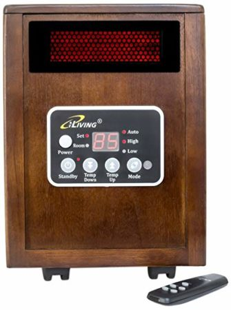 With an operating life of 80,000 hours, you'll leave the cold outside where it belongs with the iLIVING ILG-918 Portable Infrared Space Heater with Wooden Cabinet. The heater's dual heating system optimizes the heat transfer rate and combines infrared heat with convection heat.