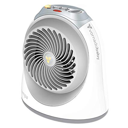 Vornadobaby Tempa Nursery Heater - Gently heats and circulates all the air around baby, 2 heat and fan settings featuring auto or continuous air circulation with advanced safety features