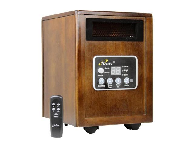 If you are looking for a space heater that will warm up a 10' x 12' room, without looking out of place, then you should definitely consider the iLiving Infrared space heater. Newly designed Dual Heat System that puts out twice more hot air than other models.